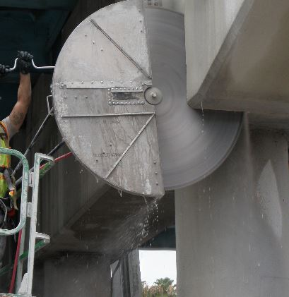 concrete wall cutting example